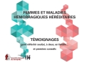 Miniature brochure femmes et maladies hemorragiques hereditaires